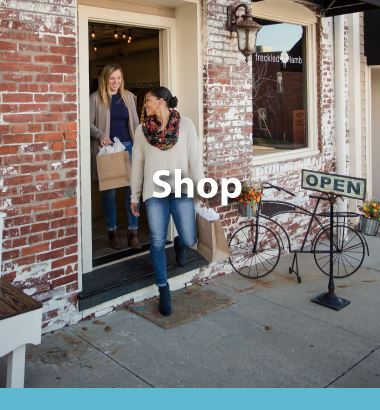 Two women shopping at Freckled Lamb Boutique