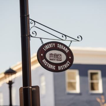 Liberty Square Historic District sign