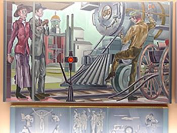 City Council Chambers Bransby Mural 1b