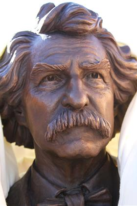 Mark Twain Sculpture Face