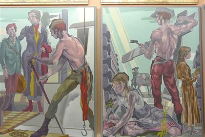 City Council Chambers Bransby Mural 05